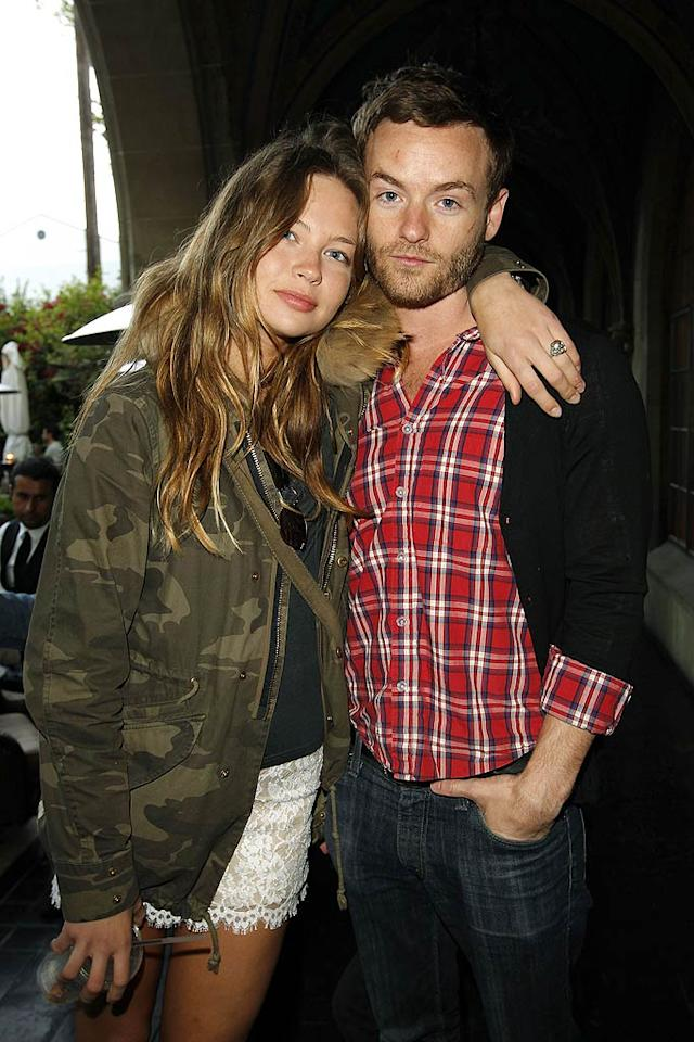 "A camouflage-clad Daveigh Chase (""Big Love"") cozied up to Chris Masterson (""Malcolm in the Middle"") at the shindig, which featured a performance by The Kills. Donato Sardella/<a href=""http://www.gettyimages.com/"" target=""new"">GettyImages.com</a> - May 15, 2011"