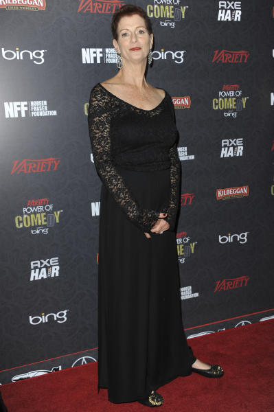 FILE - In this Nov. 17, 2012 file photo, Noreen Fraser arrives at Variety Power of Comedy at Avalon Hollywood in Los Angeles. The family of Fraser, a TV producer and co-founder of Stand Up to Cancer, says she has died at age 63. Fraser's family said she died Monday, March 27, 2017, at her Los Angeles home of metastatic breast cancer. (Photo by Richard Shotwell/Invision/AP, File)