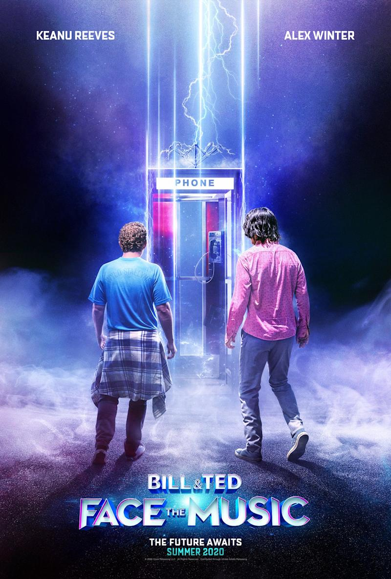 The new poster for Bill & Ted Face The Music featuring Alex Winter and Keanu Reeves. (WB)