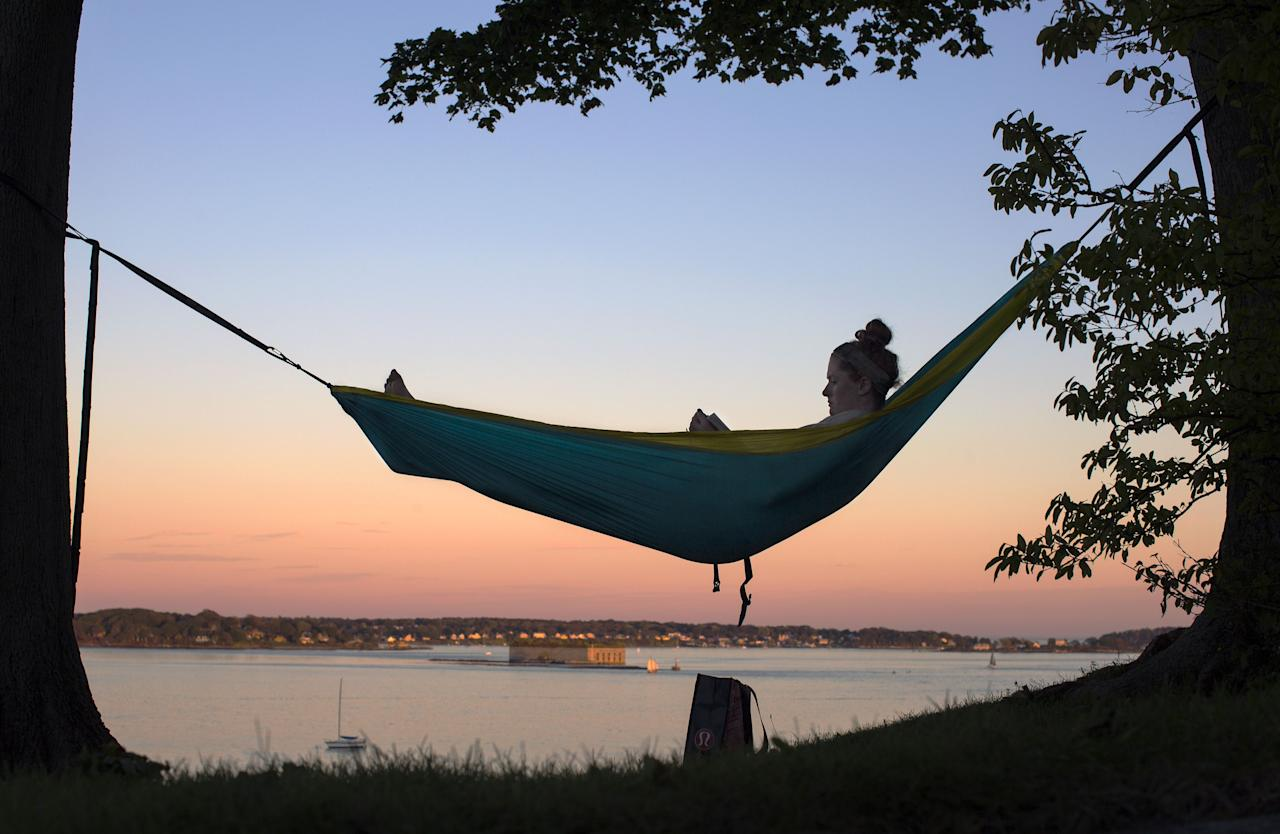 <p>When you find that perfect spot to read, relax, or just fall asleep-whether it's on the beach or in the backyard-there's only one way to make it better: with a hammock. And maybe a cold drink. This is the ideal time to buy a portable hammock. More than ever before, the world's largest outdoor-gear manufacturers are selling thoughtfully designed, durable, comfortable hammocks in an infinite number of sizes and styles for a wide variety of travelers and adventurers. </p><p>Here are five of our favorites that you can easily pack up and take along on your next adventure-even if it's just out to the backyard.</p>