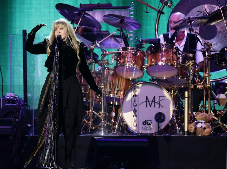 Stevie Nicks from Fleetwood Mac performs on the Main Stage at the Isle of Wight Festival, in Seaclose Park, Newport, Isle of Wight (PA)