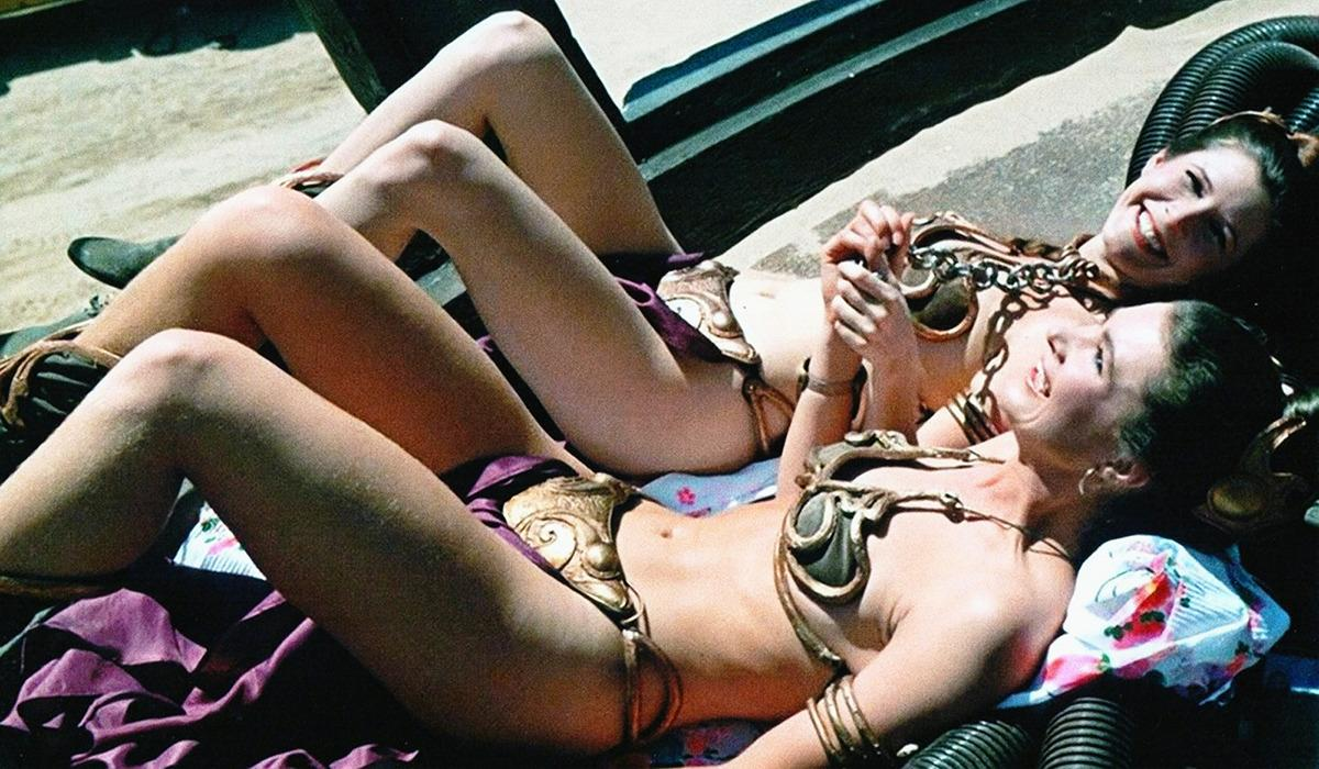 <p>Did you really think Fisher did all that running and jumping in Jabba's palace by herself?</p><p>No, that was Sandi Gross, who also had to endure the gold slave girl bikini, though at least they had time to catch some rays on set in Tunisia.</p>