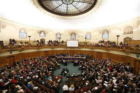 The Church of England Synod meets at Church House in central London November 20, 2013. REUTERS/Andrew Winning