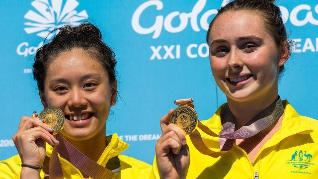 Qin and Sheehan won gold. Image: Getty