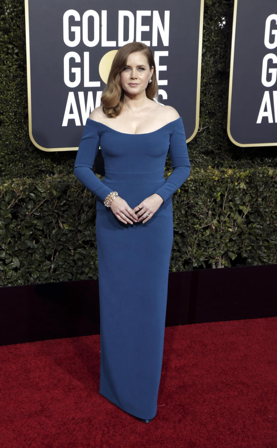 Amy Adams arrives for the 76th annual Golden Globe Awards ceremony at the Beverly Hilton Hotel, in Beverly Hills, California, USA, 06 January 2019. (Estados Unidos) EFE/EPA/MIKE NELSON *** Local Caption *** 52514391