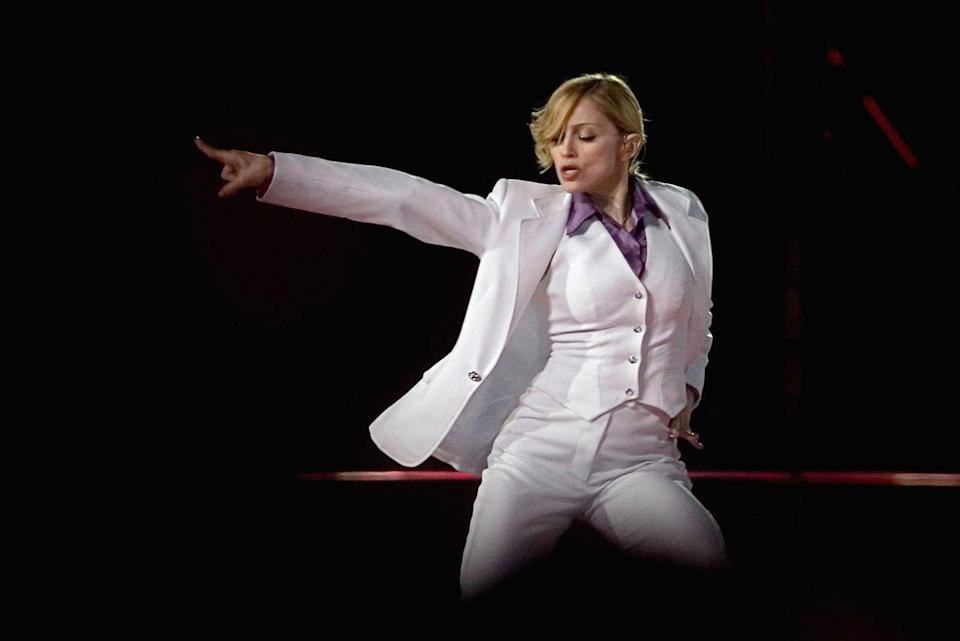 """<p>Madonna has definitely shown her moves on stage before, and her music pulsates through nightclubs everywhere. Before she hit superstardom, she was on a <a href=""""https://www.biography.com/musician/madonna"""" rel=""""nofollow noopener"""" target=""""_blank"""" data-ylk=""""slk:dance scholarship at the University of Michigan"""" class=""""link rapid-noclick-resp"""">dance scholarship at the University of Michigan</a>, which she dropped to pursue a career in the art in New York City. </p><p>""""When I first moved to New York I wanted to be a dancer, I danced professionally for years, living a hand-to-mouth existence,"""" <a href=""""https://www.theguardian.com/music/2005/nov/20/popandrock.madonna"""" rel=""""nofollow noopener"""" target=""""_blank"""" data-ylk=""""slk:Madonna told The Guardian in 2005"""" class=""""link rapid-noclick-resp"""">Madonna told <em>The Guardian </em>in 2005</a>. """"I never tapped into nightlife, all I knew was dancers, we went to bed early and got up early and went to free concerts at the Lincoln Center and Shakespeare in the Park.""""</p>"""
