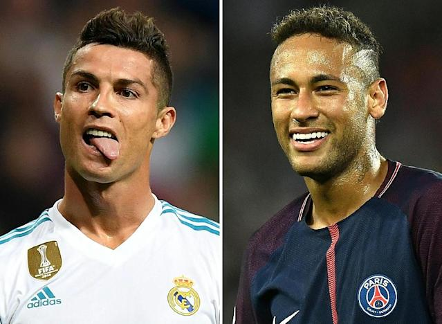 No club has won the European Cup three years running since Bayern in the 1970s, underlining how big an achievement it would be if Ronaldo's Real could get past Neymar's PSG and go on to win the trophy again in May (AFP Photo/Lluis GENE)