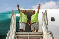 Palestinian twin brothers Atallah and Khamis al-Sairafi, 60, bought the old plane for $100,000