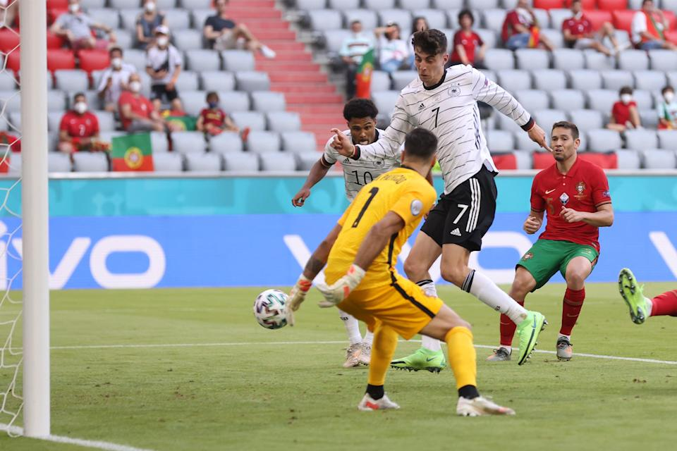 Havertz makes it 3-1 to Germany (Getty Images)