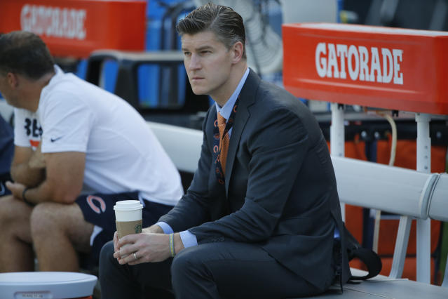 Chicago Bears general manager Ryan Pace had his contract extended after another losing season. (AP)