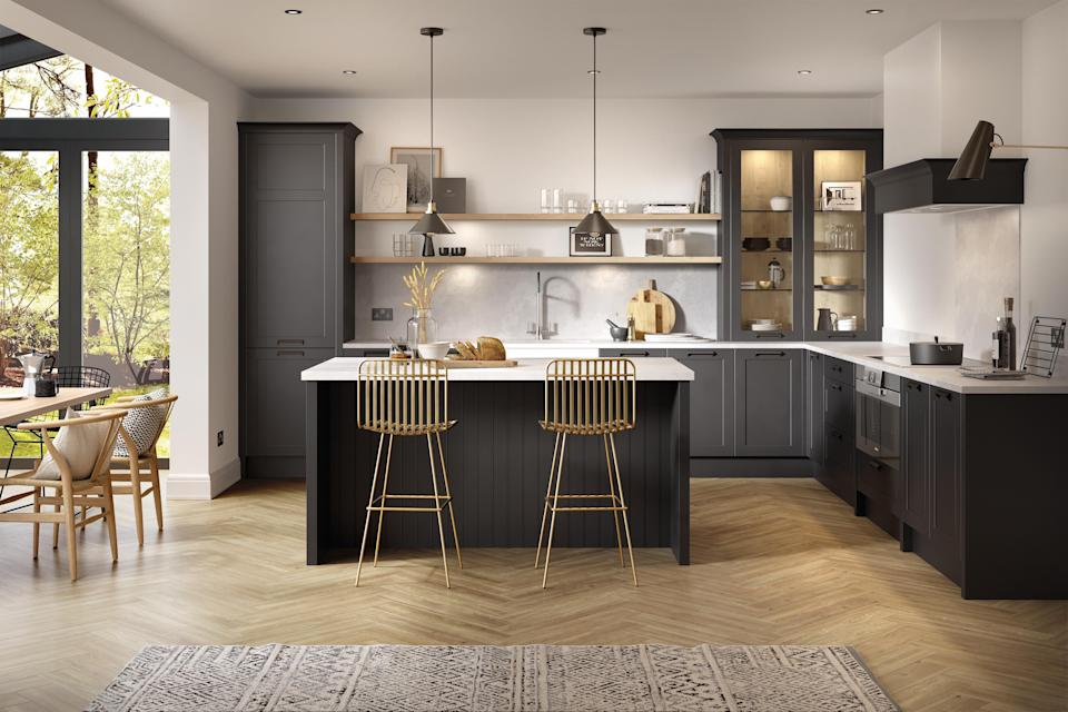 """<p class=""""body-text""""><strong>Looking for so</strong><strong>me <a href=""""https://www.housebeautiful.com/uk/decorate/kitchen/g423/best-kitchen-design-trends/"""" rel=""""nofollow noopener"""" target=""""_blank"""" data-ylk=""""slk:kitchen"""" class=""""link rapid-noclick-resp"""">kitchen</a> isla</strong><strong>nd ideas? Whether you're in need of inspiration for a small kitchen island or tips on how to design a kitchen island with seating, e<strong>very home can benefit from one, even if space is at a premium. </strong></strong><strong>Before you set out to design your ideal kitchen island, take a look at everything you need to know including size, style and shape...</strong><br></p><h4 class=""""body-h4"""">What is a kitchen island? </h4><p>A kitchen island is a freestanding countertop unit in the middle of a kitchen, serving as a focal point to prepare food and eat meals. One of the most sought-after features, kitchen islands are accessible from all sides, adding more precious space and storage.<br></p><p>'Islands tend to become a home theatre of cooking, they put the cook at the heart of the layout, front, and centre stage,' says Graeme Smith, Head of Retail and Design at <a href=""""https://www.life-kitchens.co.uk/"""" rel=""""nofollow noopener"""" target=""""_blank"""" data-ylk=""""slk:Life Kitchens"""" class=""""link rapid-noclick-resp"""">Life Kitchens</a>. 'They also act as a natural room divide, bridging the kitchen to another space be it a dining or living environment. Add in storage below for utensils in drawers, an integrated bin for food scraps and a chopping block for a designated prep area.' </p><h4 class=""""body-h4"""">How do you plan a kitchen island?</h4><p>When planning your kitchen island, think about its purpose. Will it be a space for cooking or are you dreaming of creating a communal spot for relaxed dining? Once you have decided on the main use of your kitchen island, it's time to chose the size. If you're working with a more compact space or a galley kitchen, it might be best to consider narrow freestanding s"""