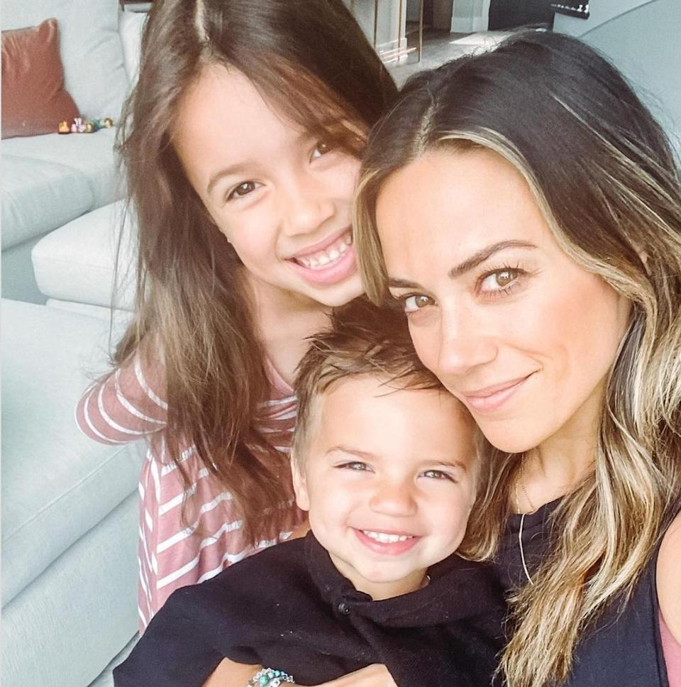 """<p><a href=""""https://people.com/tag/jana-kramer/"""" rel=""""nofollow noopener"""" target=""""_blank"""" data-ylk=""""slk:Jana Kramer"""" class=""""link rapid-noclick-resp"""">Jana Kramer</a> is the next musical mother on the list!</p> <p>Kramer is mom to daughter <a href=""""https://people.com/parents/jana-kramer-welcomes-daughter-jolie-rae-first-photo/"""" rel=""""nofollow noopener"""" target=""""_blank"""" data-ylk=""""slk:Jolie"""" class=""""link rapid-noclick-resp"""">Jolie</a>, 5, and<a href=""""https://people.com/parents/jana-kramer-mike-caussin-welcome-son/"""" rel=""""nofollow noopener"""" target=""""_blank"""" data-ylk=""""slk:Jace"""" class=""""link rapid-noclick-resp""""> Jace</a>, 2, who she shares with ex-husband, <a href=""""https://people.com/tag/mike-caussin/"""" rel=""""nofollow noopener"""" target=""""_blank"""" data-ylk=""""slk:Mike Cussin"""" class=""""link rapid-noclick-resp"""">Mike Cussin</a>.<a href=""""https://people.com/parents/jana-kramer-motherhood-adjustment-zero-patience/"""" rel=""""nofollow noopener"""" target=""""_blank"""" data-ylk=""""slk:She told PEOPLE in 2018"""" class=""""link rapid-noclick-resp""""> She told PEOPLE in 2018 </a>how her children helped her grow and evolve as an individual.</p> <p>""""Being a mom has changed me in so many ways. I had zero patience before kids,"""" the country singer said. """"I love singing, I love acting, I love <a href=""""https://www.iheart.com/podcast/1119-whine-down-w-jana-kramer-29262403/?autoplay=true"""" rel=""""nofollow noopener"""" target=""""_blank"""" data-ylk=""""slk:doing my podcast"""" class=""""link rapid-noclick-resp"""">doing my podcast</a> and creating things, but being a mom is what truly fulfills me. It is the best part of my day, even though it's the most stressful.""""</p> <p>Over the weekend Kramer shared a glimpse of her <a href=""""https://people.com/parents/mothers-day-2021-jana-kramer-celebrates-with-kids-amid-mike-caussin-divorce/"""" rel=""""nofollow noopener"""" target=""""_blank"""" data-ylk=""""slk:Mother's Day celebration"""" class=""""link rapid-noclick-resp"""">Mother's Day celebration</a> on <a href=""""https://www.instagram.com/p/COp2GTjtFAn/?utm_source=ig_embed&ig_rid=66aaf89"""