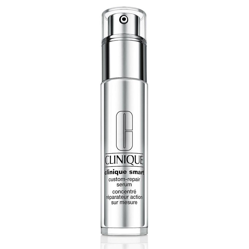 """<p><strong>Clinique</strong></p><p>sephora.com</p><p><strong>$62.00</strong></p><p><a href=""""https://go.redirectingat.com?id=74968X1596630&url=https%3A%2F%2Fwww.sephora.com%2Fproduct%2Fclinique-smart-custom-repair-serum-P387616&sref=https%3A%2F%2Fwww.goodhousekeeping.com%2Fbeauty%2Fanti-aging%2Fg34520642%2Fbest-collagen-creams%2F"""" rel=""""nofollow noopener"""" target=""""_blank"""" data-ylk=""""slk:Shop Now"""" class=""""link rapid-noclick-resp"""">Shop Now</a></p><p>This powerhouse Clinique serum, the winner of the GH Beauty Lab's anti-aging face serum test, boasts high levels of vitamin C to prevent collagen from breaking down. Per calculations with the Lab's Cutometer device, <strong>it increased firmness by 24% </strong>after four weeks of use. """"My jaw seems lifted and more defined,"""" a tester marveled.</p>"""