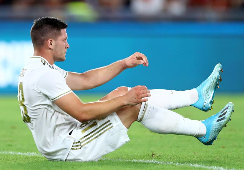 Luka Jovic of Real Madrid during the Mabel Green Cup match AS Roma v Real Madrid at the Olimpico Stadium in Rome, Italy on August 11, 2019 (Photo by Matteo Ciambelli/NurPhoto via Getty Images)