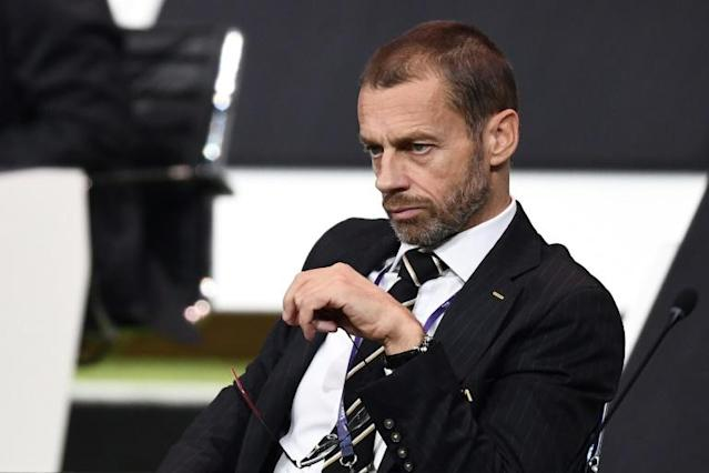 UEFA President Aleksander Ceferin has postponed a crucial summit set to discuss reforms to European club competitions (AFP Photo/FRANCK FIFE)
