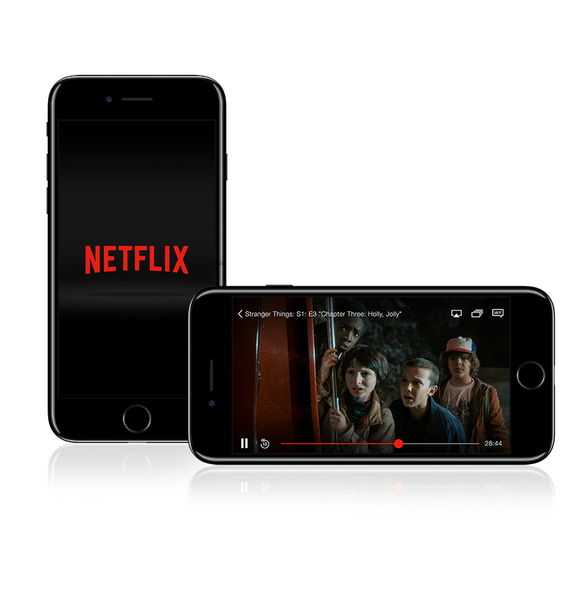 The Netflix app displayed on an iPhone.