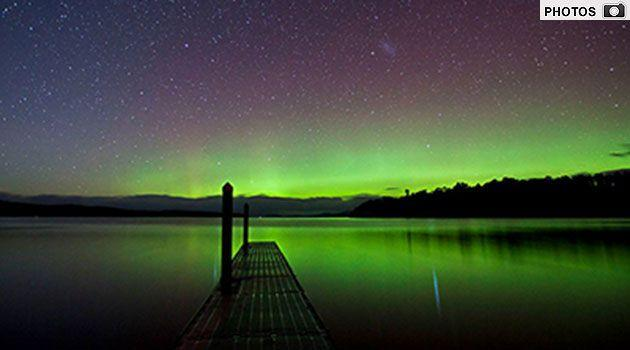 Ethusiasts have captured stunning images of the Aurora Australis (Click through to gallery). Photo: Susan Styles.