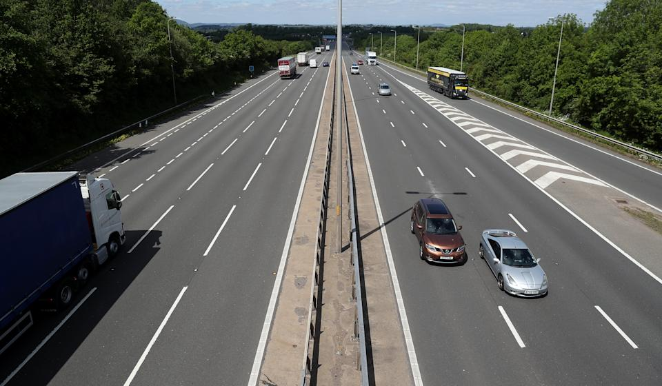 Embargoed to 0001 Saturday April 03 File photo dated 12/05/20 of traffic on the M5 near Strensham services. A motorway service area on a key tourist route has been named the worst in Britain. Issue date: Saturday April 3, 2021.