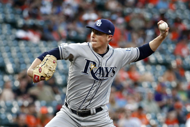 Tampa Bay Rays relief pitcher Ryan Yarbrough throws to a Baltimore Orioles batter during the second inning of a baseball game Thursday, July 26, 2018, in Baltimore. (AP Photo/Patrick Semansky)