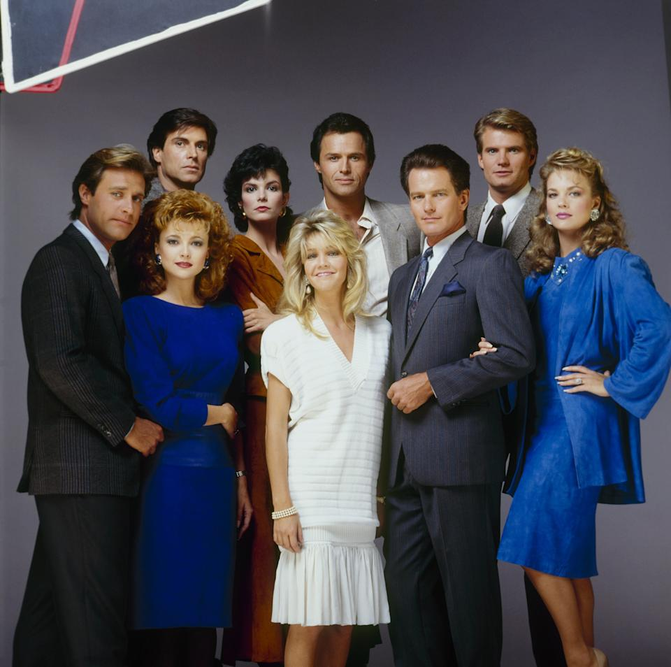 michael nadar and The Dynasty cast in 1987.