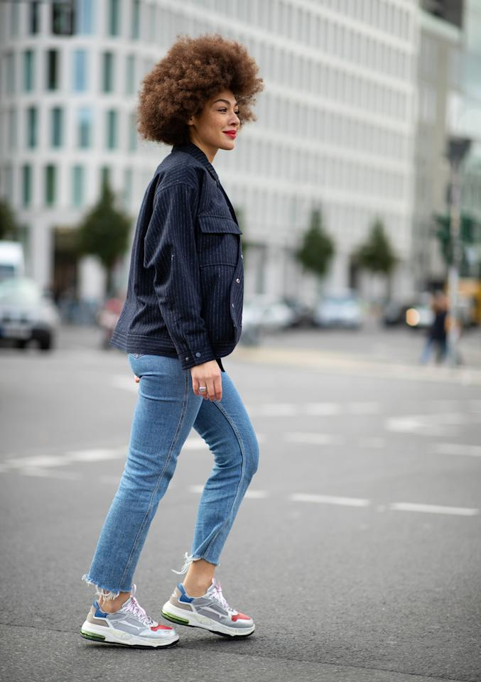 <p>Instead, opt for retro-styled sneakers that are just a little sleeker. Even if brightly colored and 1990s-inspired, we're definitely ready to reach for a more understated sole.</p>