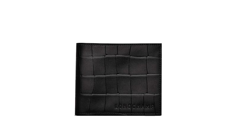 Longchamp Croco Block Leather Wallet