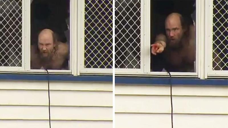 David handed himself over to police following a 18-hour siege. Photo: 7 News