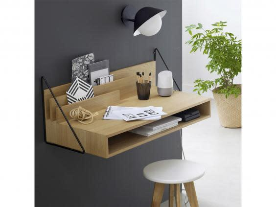 A small desk with useful storage will help you make the most of the space too (La Redoute)