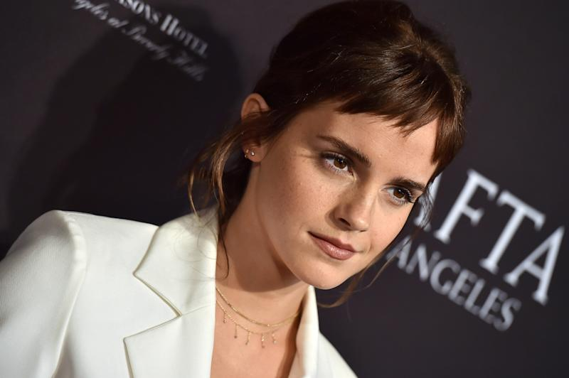 LOS ANGELES, CA - JANUARY 06: Actress Emma Watson arrives at The BAFTA Los Angeles Tea Party at Four Seasons Hotel Los Angeles at Beverly Hills on January 6, 2018 in Los Angeles, California. (Photo by Axelle/Bauer-Griffin/FilmMagic)