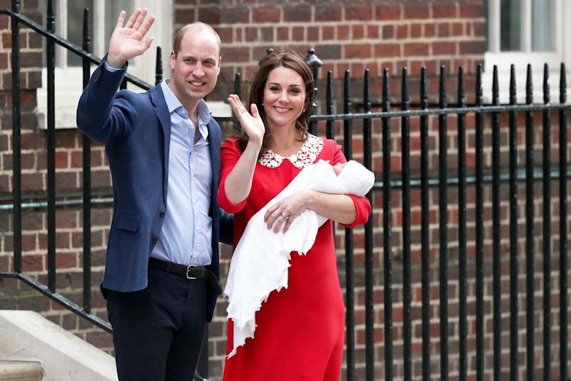 Kate and William with Louis