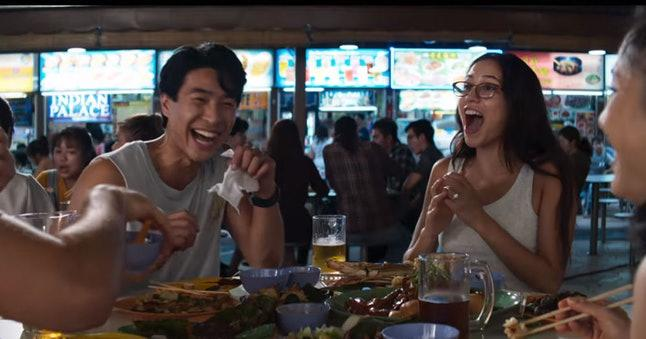 hawker center street food in crazy rich asians