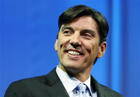 Chairman and CEO of AOL Tim Armstrong smiles during a panel session at The Cable Show in Boston, Massachusetts in this May 21, 2012, file photo. REUTERS/Jessica Rinaldi/Files