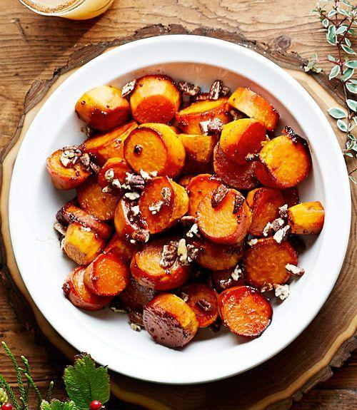"""<p>Sweet potatoes deliver a healthy dose of <a href=""""https://www.goodhousekeeping.com/health/diet-nutrition/a48026/sweet-potato-nutrition/"""" rel=""""nofollow noopener"""" target=""""_blank"""" data-ylk=""""slk:vitamin A"""" class=""""link rapid-noclick-resp"""">vitamin A</a>, which protects your vision and immune system.</p><p><strong>Recipe to try:</strong> <a href=""""https://www.womansday.com/food-recipes/food-drinks/a26012705/mashed-sweet-potato-and-carrots-recipe/"""" rel=""""nofollow noopener"""" target=""""_blank"""" data-ylk=""""slk:Mashed Sweet Potato and Carrots"""" class=""""link rapid-noclick-resp"""">Mashed Sweet Potato and Carrots</a></p>"""