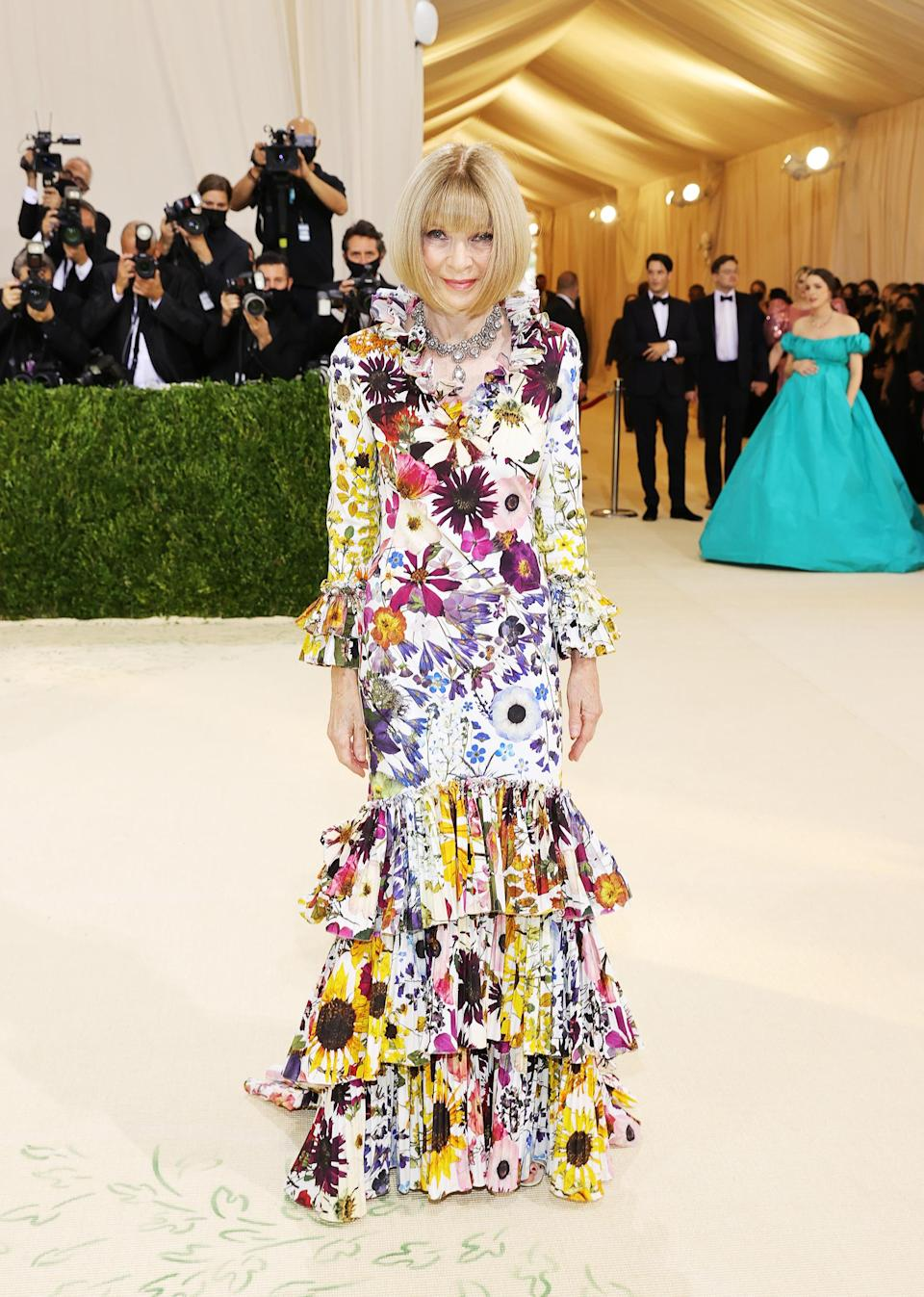 The 2021 Met Gala Celebrating In America: A Lexicon Of Fashion - Arrivals (Mike Coppola / Getty Images)