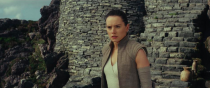 """<p>""""It's difficult when you meet your heroes because it might not be what you expect,"""" Ridley explained at <em>Star Wars: Celebration. </em>Here, Rey stands at the ruins of the Jedi temple on Ahch-To.<br>(Credit: Lucasfilm) </p>"""