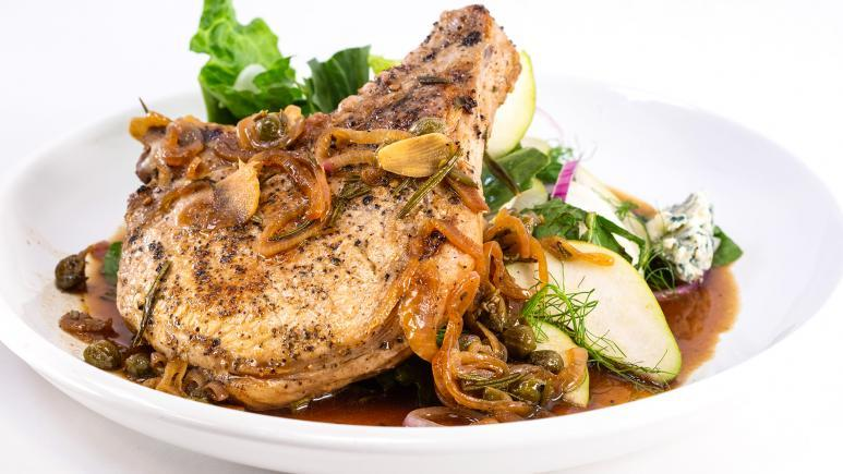 Sweet, Sour and Spicy Pork Chops with Rosemary