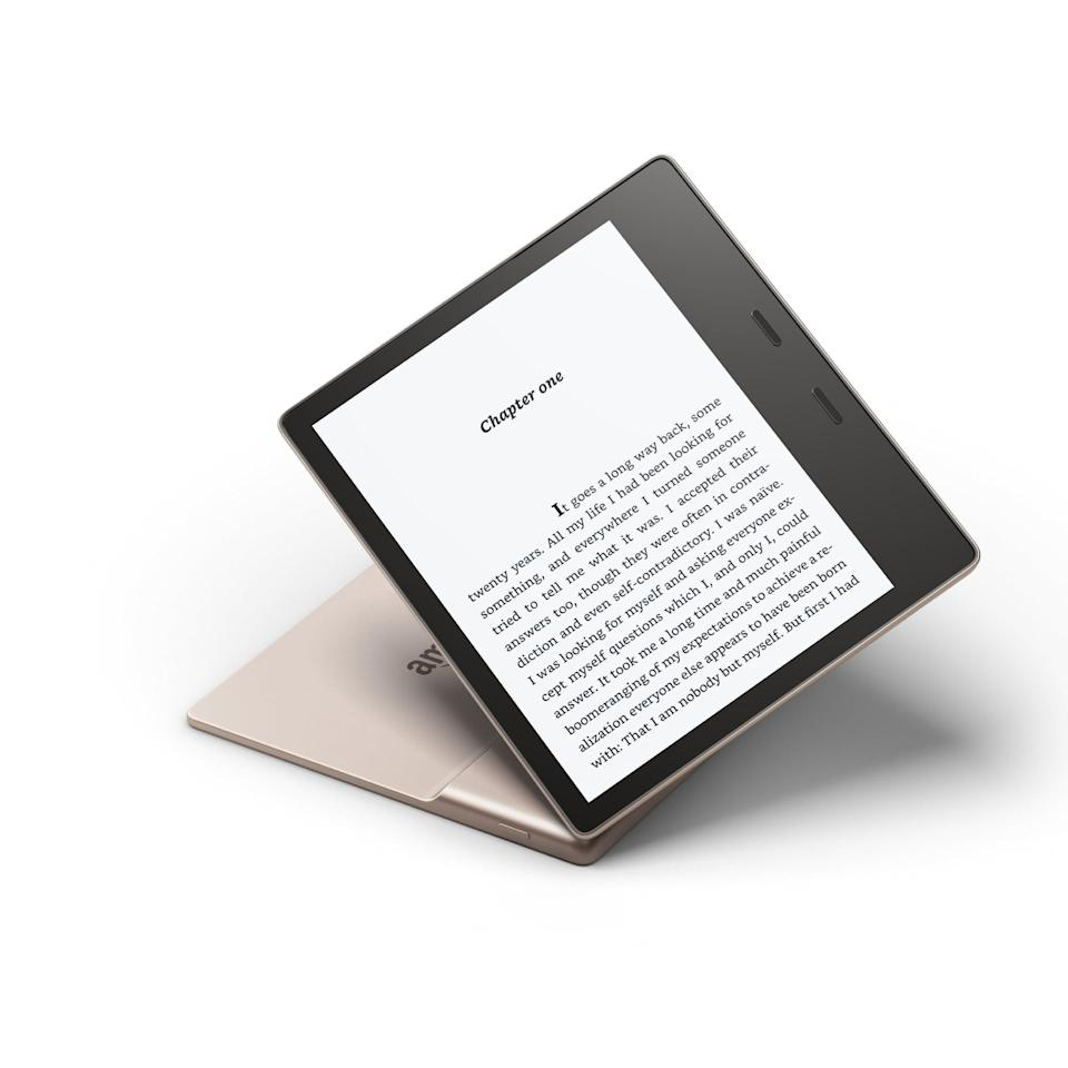 <p>Sometimes the best way to get to the future is to embrace the past – and that's exactly what Amazon did with the <span>Kindle Oasis</span> ($300) which brings back <strong>everything</strong> people loved about the original Kindle, and combines it with all the future tech of our dreams. It's waterproof, ultra-durable, and provides the best visuals in direct sunlight.</p>