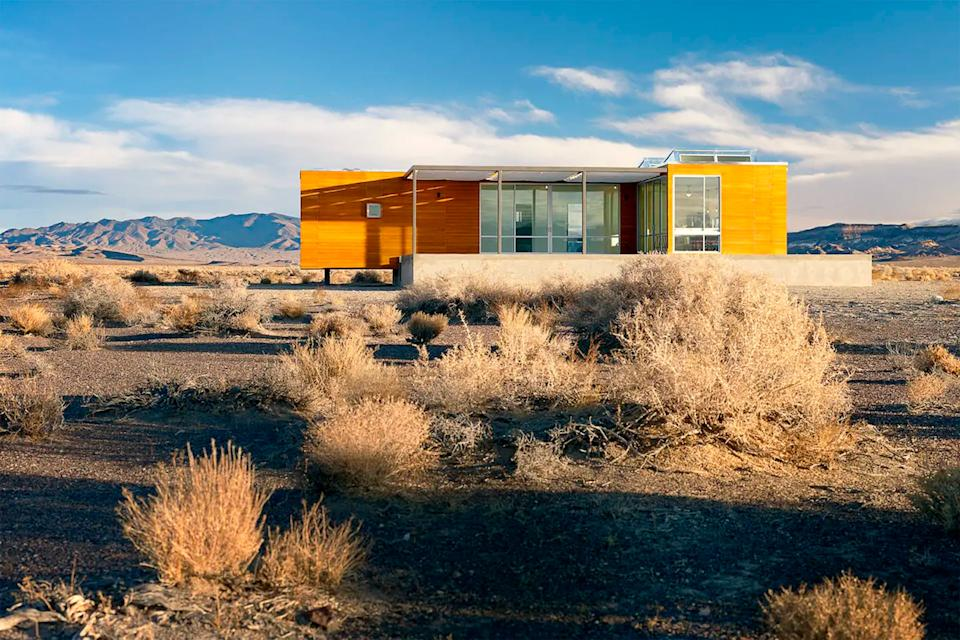 """<h2>Death Valley House, Desert Gold</h2><br>Another desert destination is the Death Valley House. It may seem silly to seek out a secluded spot when you've been quarantining with your boo for months — but the other-worldly landscape offers an element of romance you can't get anywhere else. Plus, braving the wilderness (albeit, in a luxe house) has a way of making your bond even stronger.<br><br><strong>Location: </strong>Beatty, NV<br><strong>Sleeps: </strong>6<br><strong>Price Per Night: </strong>$500<br><br><strong><a href=""""https://www.airbnb.com/rooms/2931254"""" rel=""""nofollow noopener"""" target=""""_blank"""" data-ylk=""""slk:Book here"""" class=""""link rapid-noclick-resp"""">Book here</a></strong><span class=""""copyright"""">Photo: Courtesy of Airbnb.</span>"""