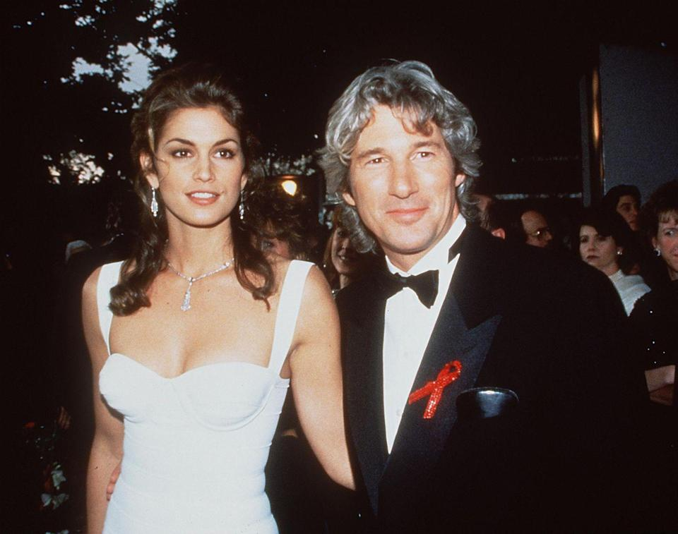 """<p>Wedding bells rang for the actor and the model in 1991, but by 1995, they were officially in splitsville. Cindy <a href=""""http://people.com/movies/cindy-crawford-ex-husband-richard-gere-is-like-a-stranger-to-her/"""" rel=""""nofollow noopener"""" target=""""_blank"""" data-ylk=""""slk:opened up"""" class=""""link rapid-noclick-resp"""">opened up</a> about their dynamic in 2014 on Marc Maron's <em>WTF</em> podcast: """"I think part of the problem in our relationship was that we were a lot of other things, but I don't know if we were ever friends—like peers—because I was young and he was Richard Gere.""""</p>"""