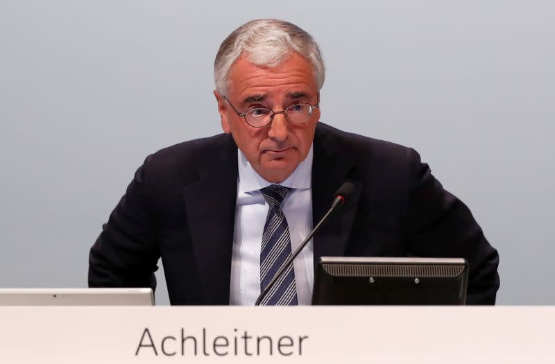FILE PHOTO: Chairman of the board Paul Achleitner attends the annual shareholder meeting of Deutsche Bank in Frankfurt