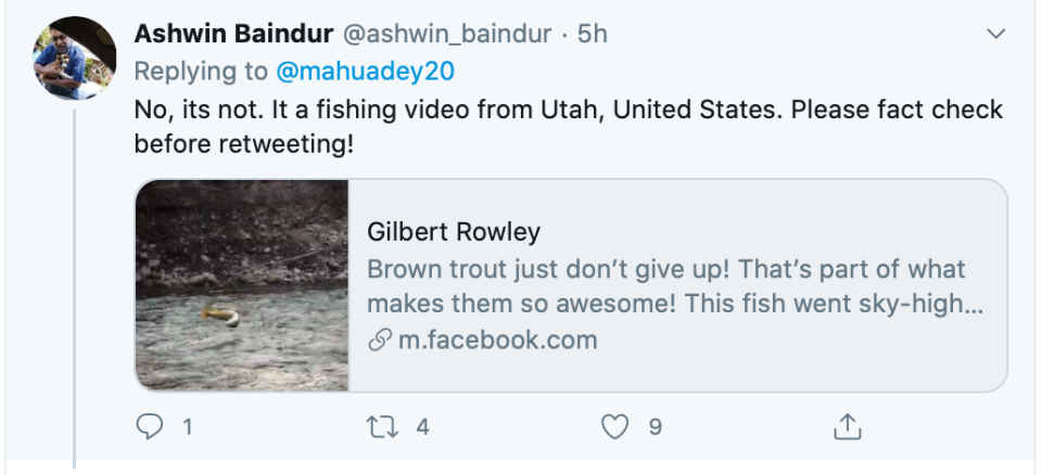A Twitter user had suggested that the video is from United States.