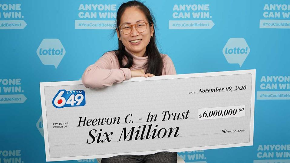 Heewon (Theresa) Choi $6 million B.C. Lotto 6/49 winner (BCLC)