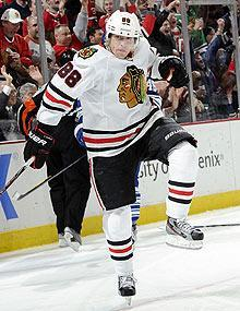 Patrick Kane is a right winger by trade, but he's spent some time at center for the 'Hawks this season