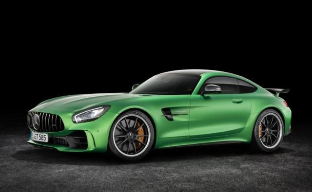 Green Mercedes Benz AMG GT (2017)