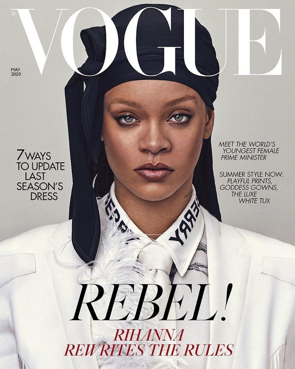 Cover star: Rihanna graces the new Vogue