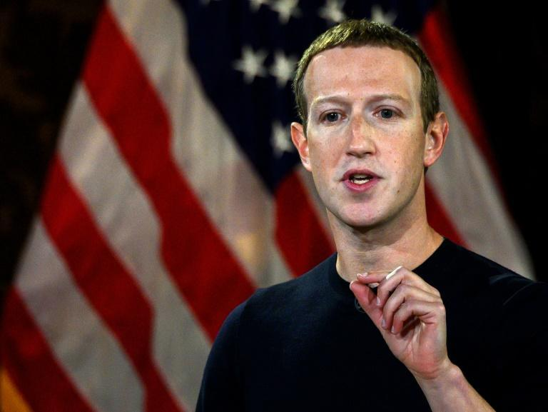 """Facebook CEO Mark Zuckerberg said private social media platforms """"shouldn't be the arbiter of truth of everything that people say online"""" (AFP Photo/ANDREW CABALLERO-REYNOLDS)"""