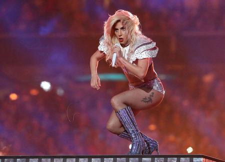 FILE PHOTO --  Singer Lady Gaga performs during the halftime show at Super Bowl LI between the New England Patriots and the Atlanta Falcons in Houston, Texas, U.S., February 5, 2017. REUTERS/Adrees Latif/File Photo