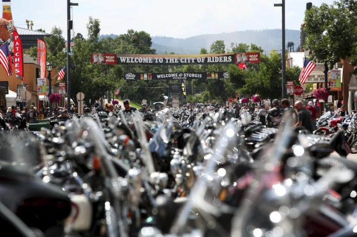 Days before the Sturgis Motorcycle Rally in August 2014. / Credit: Toby Brusseau / AP
