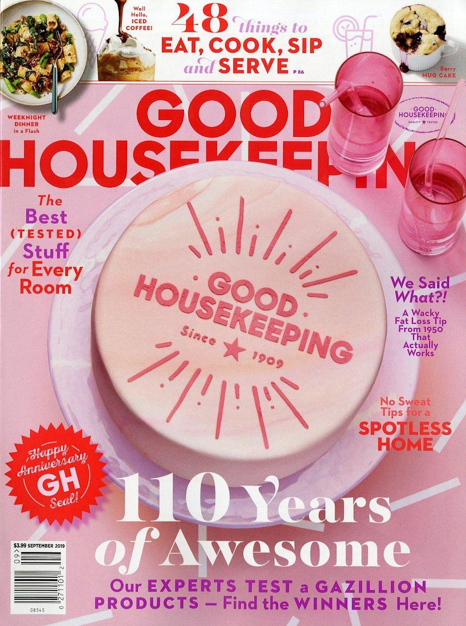 """<p><strong>Good Housekeeping</strong></p><p>amazon.com</p><p><strong>$6.00</strong></p><p><a href=""""https://amzn.to/3yZiqW6"""" rel=""""nofollow noopener"""" target=""""_blank"""" data-ylk=""""slk:Shop Now"""" class=""""link rapid-noclick-resp"""">Shop Now</a></p><p>Gift them all the fun and delicious goodness of <em>Good Housekeeping</em> with this limited-time deal where you can score 10 issues of the magazine for the price of a vanilla latte. </p>"""