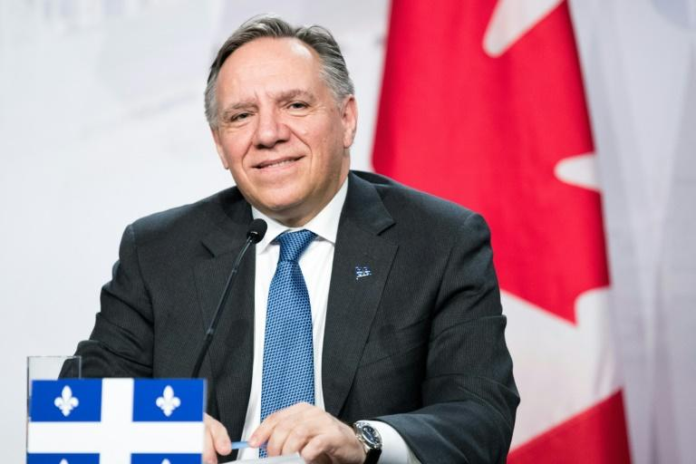 (FILES) Quebec Premier Francois Legault, in a December 2018 file image,  has declared a public health emergency